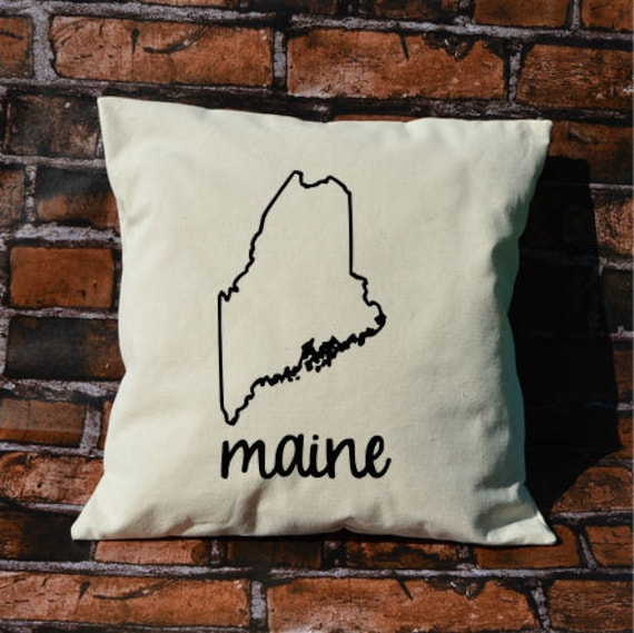 Maine Pillow Pillow Gift Maine Gift Decorative Pillows Etsy