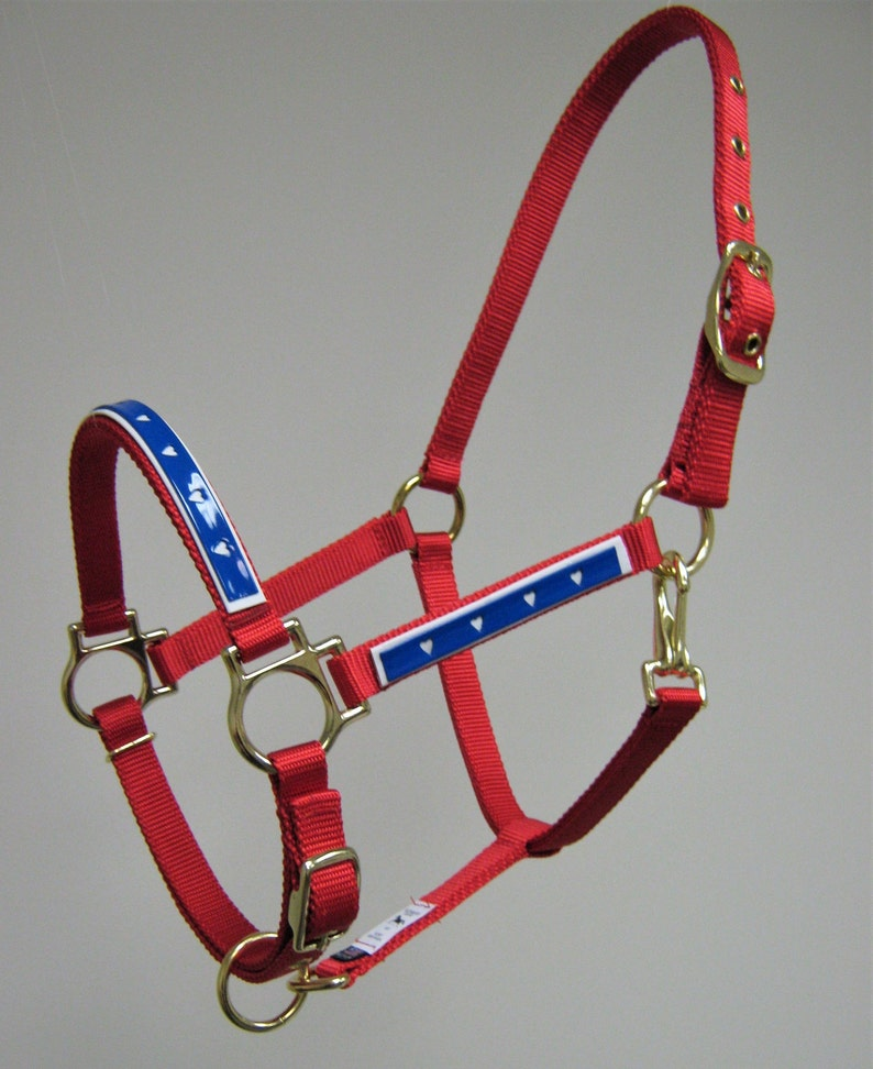 Patriotic Pony Halters 4th of July Mini Horse Halters Parade Pony Halters Custom Mini Halters Red White and Blue Horse Halters