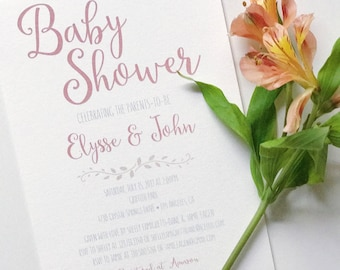 Baby Shower Invitation DIGITAL DOWNLOAD / Party Invitation / Baby Invitation / Pregnant / Mother-to-be / Invitations / New Baby / Shower