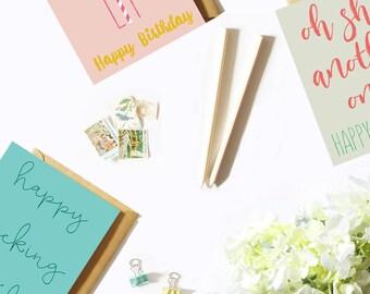 Birthday Greeting Card Set