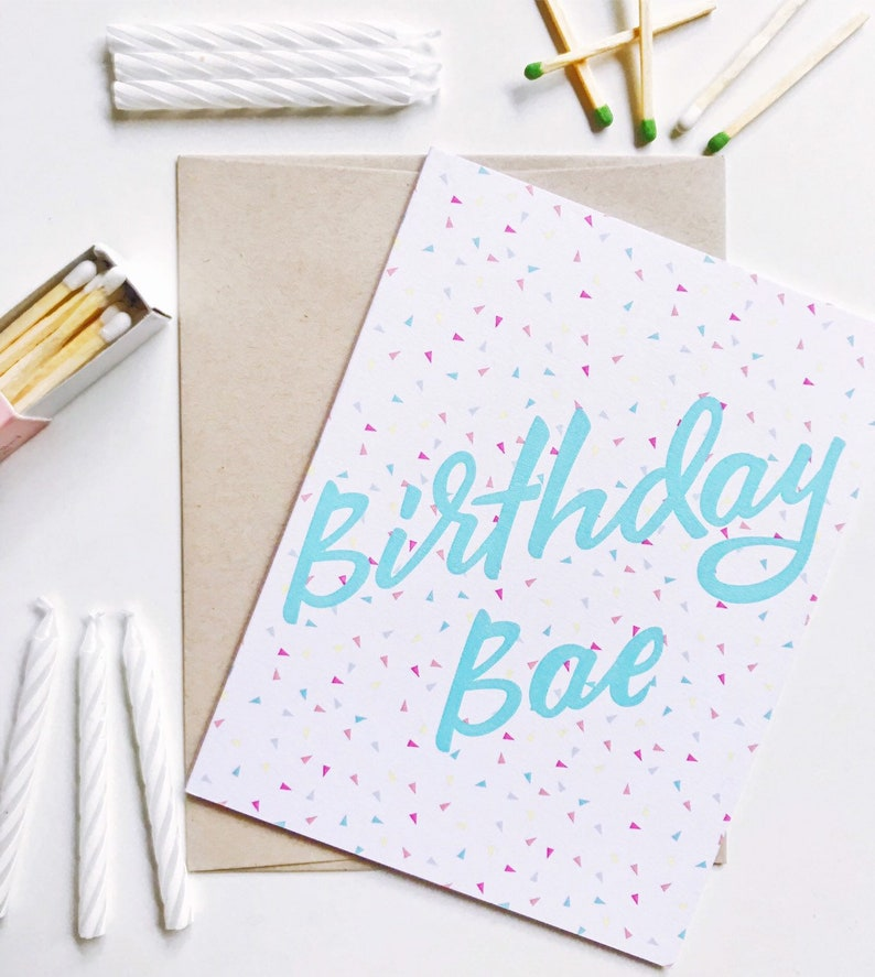 Birthday Greeting Card / Birthday Bae Greeting Card / Friend image 0