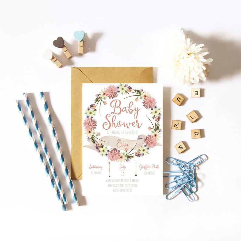 Baby Shower Invitation / Party Invitation / Baby Invitation / image 0