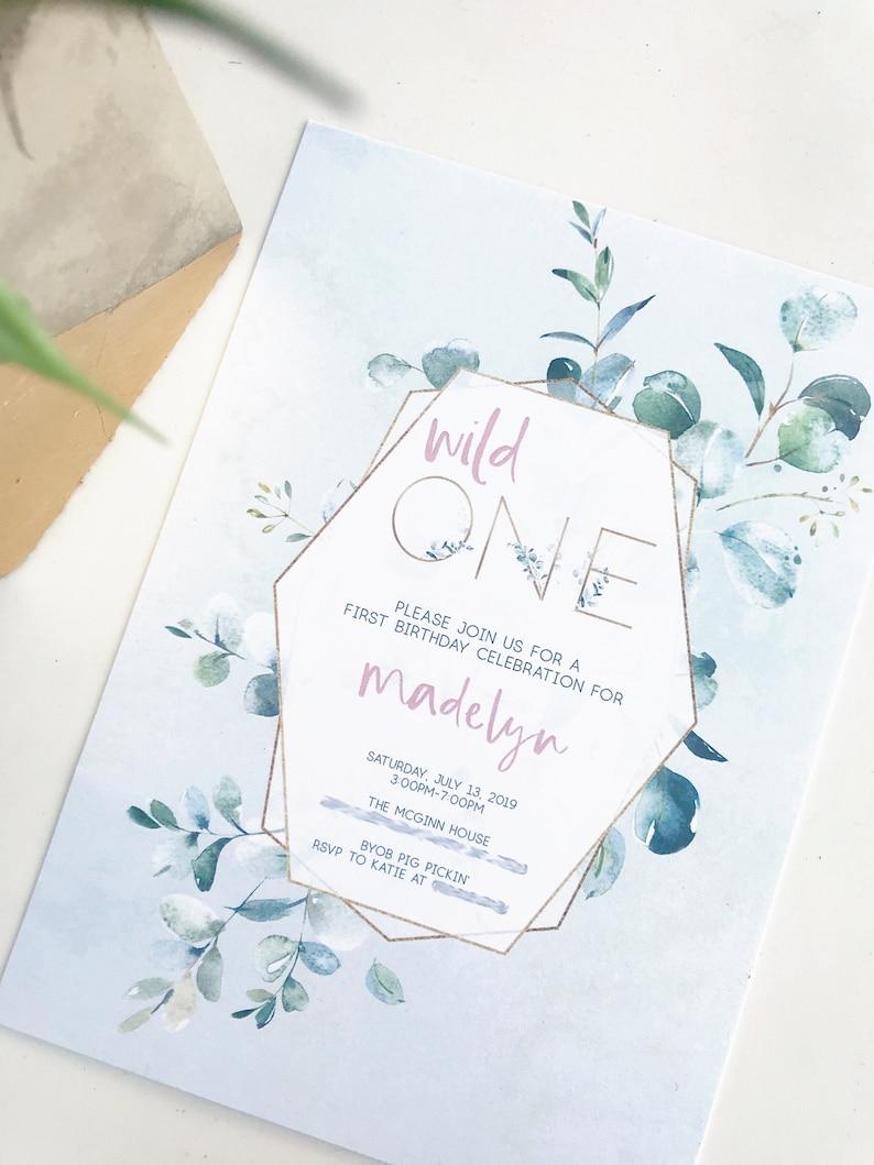 First Birthday Wild One / Party Invitation / Baby Invitation / image 0