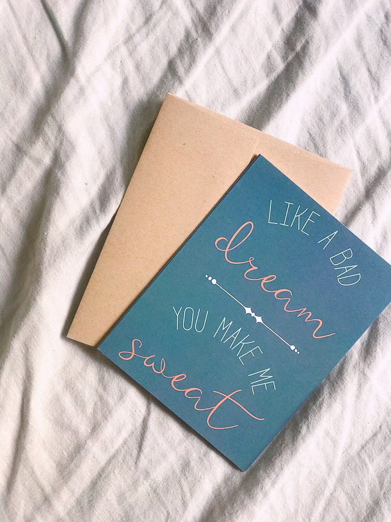 You Make Me Sweat Greeting Card / Funny Love Card / Funny image 0