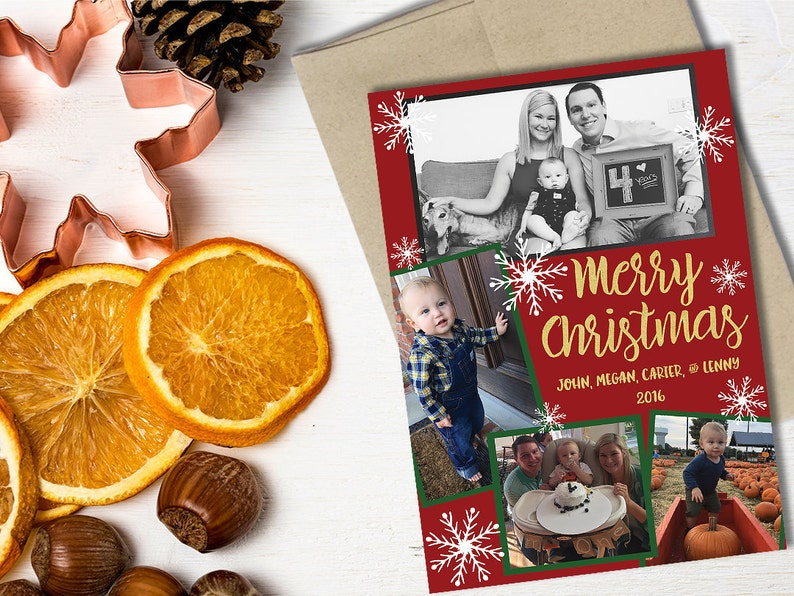 Digital Download Custom Flat Holiday Note Cards / Holiday image 0