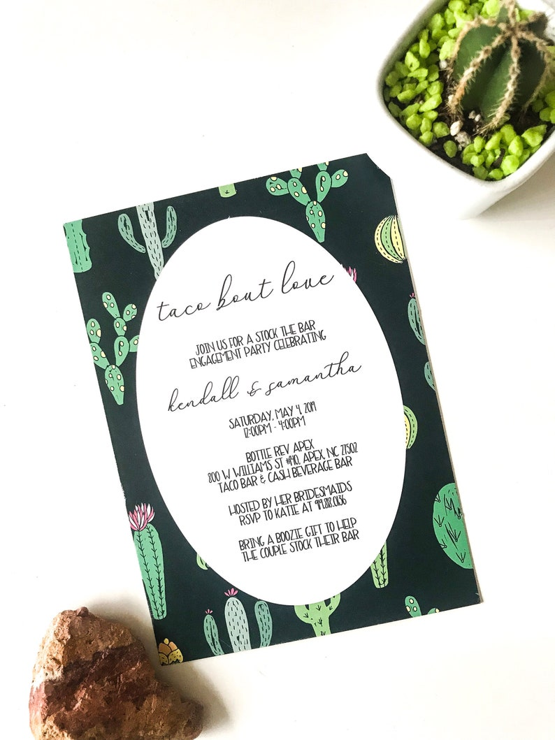 Taco Bout Love Engagement Party Invitation / Stock the Bar / image 0