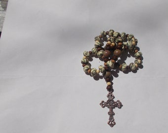 Camo Devotional Aid, Protestant Prayer Beads, Beaded Anglican Rosary, Christian Gift, First Communion Gift, Baptism Gift, Religious Gift
