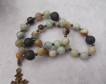 Amazonite Devotional Aid, Rosary Prayer Beads, Beaded Rosary, Prayer Focus, Christian Gift, First Communion Gift, Baptism Gift