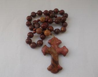 Red Jasper Gemstone , Devotional Aid, Rosary Prayer Beads, Beaded Rosary, Prayer Focus, Christian Gift, First Communion Gift, Baptism Gift
