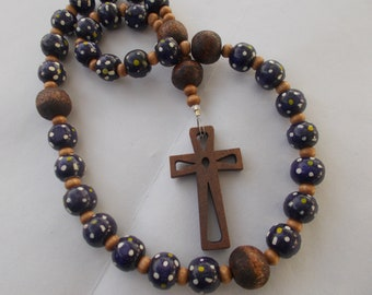 Wooden Rosary, Devotional Aid, Rosary Prayer Beads, Beaded Rosary, Prayer Focus, Christian Gift, First Communion Gift, Baptism Gift