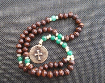 Anglican Rosary | Wooden Beads | Metal Cross |  Gift for Him | Religious Gift | Gift Rosary  | Prayer Beads | Anglican Prayer Beads.