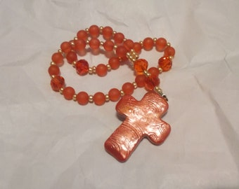 Red Sea Glass, Devotional Aid, Rosary Prayer Beads, Beaded Rosary, Prayer Focus, Christian Gift, First Communion Gift, Baptism Gift