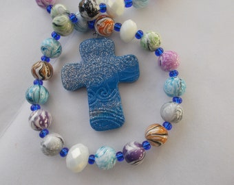 Colorful Beaded Rosary, Devotional Aid, Rosary Prayer Beads, Beaded Rosary, Prayer Focus, Christian Gift, First Communion, Baptism Gift