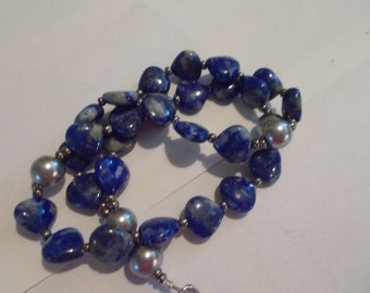 Sodalite Devotional Aid, Rosary Prayer Beads, Beaded Rosary, Prayer Focus, Christian Gift, First Communion Gift, Baptism Gift, Man's Gift