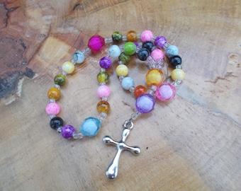 Devotional Aid, Prayer Beads, Beaded Rosary, Christian Gift, First Communion Gift, Baptism Gift, Protestant Prayer Beads, Religious Gift