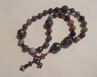 Gem Devotional Aid, Protestant Prayer Beads, Beaded Anglican Rosary, Christian Gift, First Communion Gift, Baptism Gift, Religious Gift