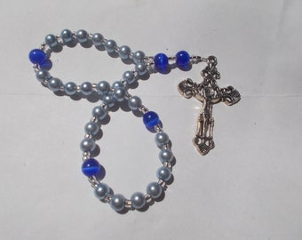 Devotional Aid, Protestant Prayer Beads, Beaded Anglican Rosary, Christian Gift, First Communion Gift, Baptism Gift, Religious Gift