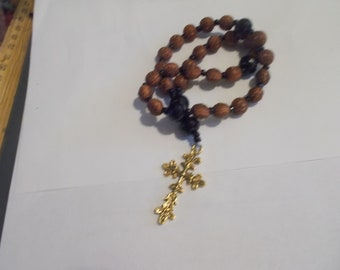 Brown Heart Beads, Devotional Aid, Prayer Beads, Beaded Rosary, Christian Gift, First Communion Gift, Baptism Gift, Protestant Beads, Gift