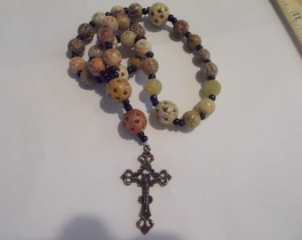 Soapstone Devotional Aid, Prayer Beads, Beaded Rosary, Christian Gift, First Communion Gift, Baptism Gift, Protestant Beads, Religious Gift