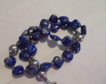 Sodalite Devotional Aid, Prayer Beads, Beaded Rosary, Christian Gift, First Communion Gift, Baptism Gift, Protestant Beads, Religious Gift