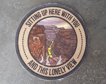 NEW! Lonely View Cotton Full Color Sew-On Patch Big 4.1inch x 4.0inch - PREMIUM QUALITY!