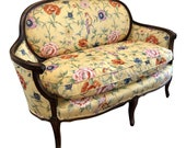 Early 20th Century Louis XV Style Upholstered Settee