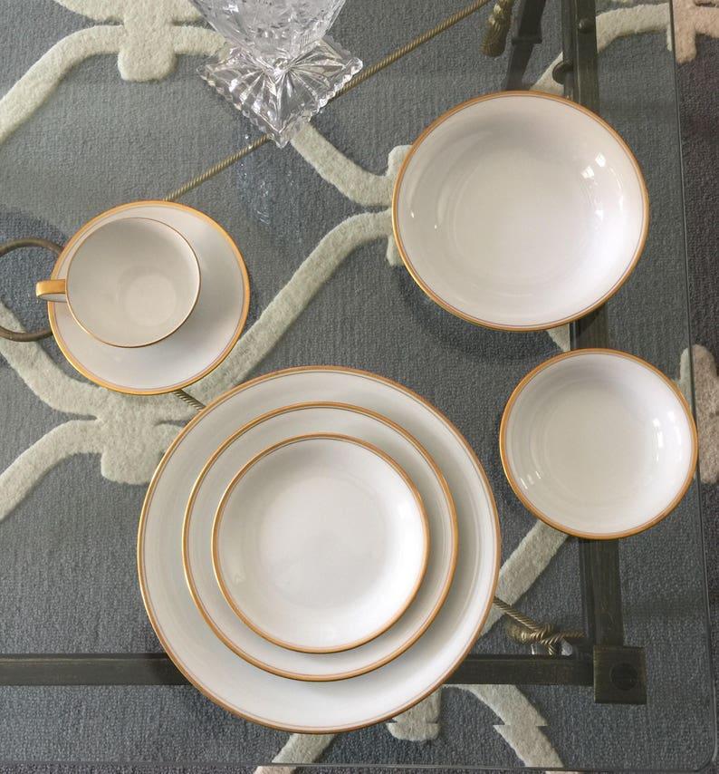 Vintage Noritake Bradford Gold Rim China Set