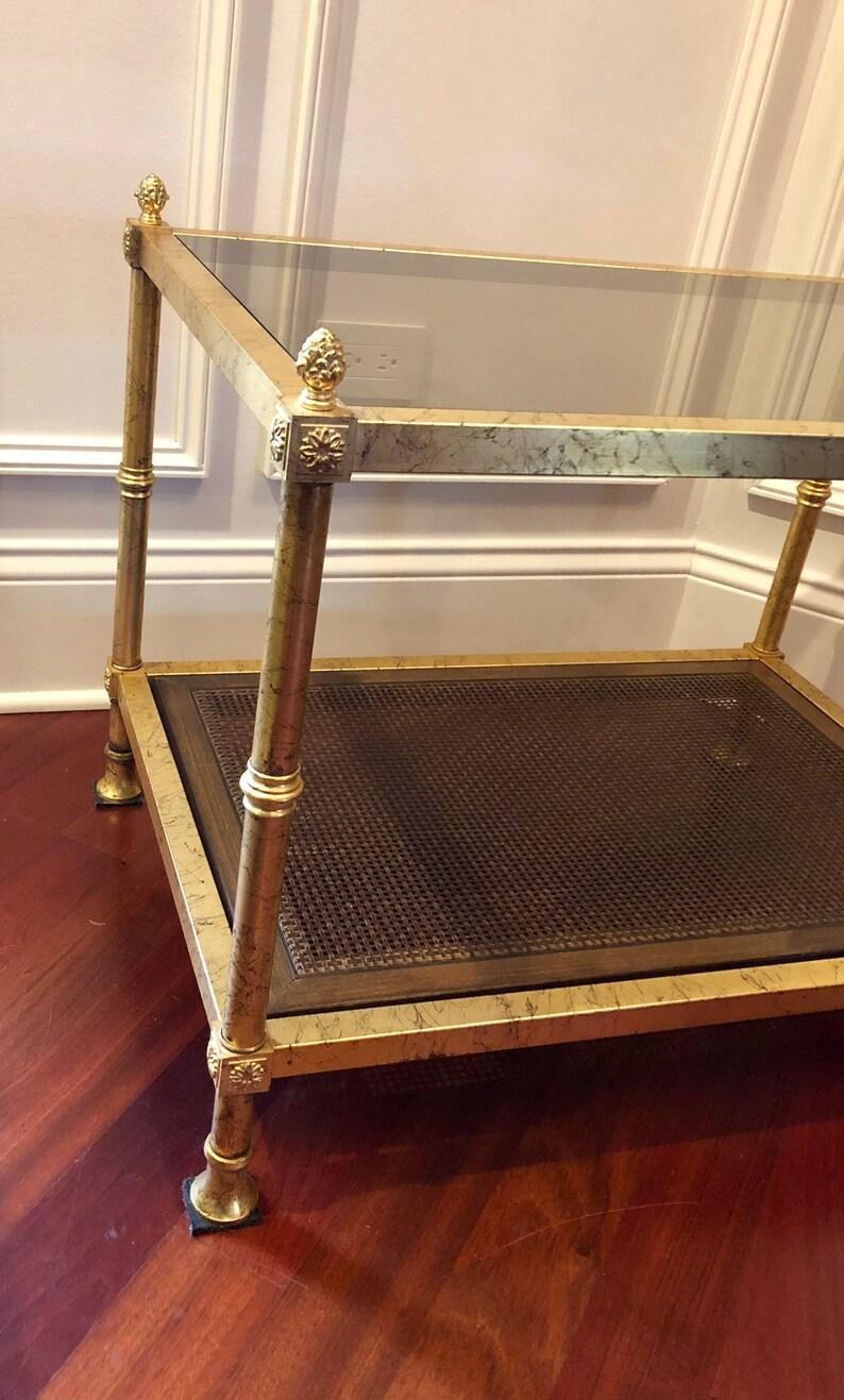 Vintage Hollywood Regency Style Gold Gilt Side End Table
