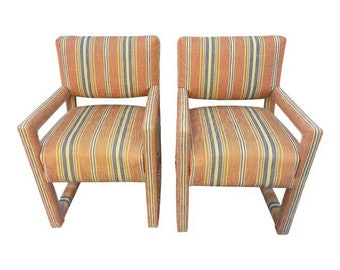 Vintage Kay Dee Contempo Upholstered Chairs- a Pair
