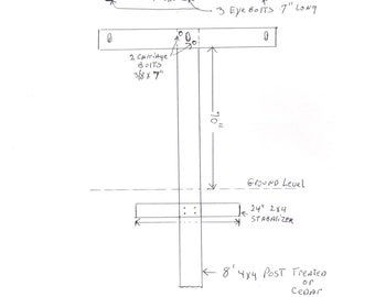 Clothesline Posts Drawings