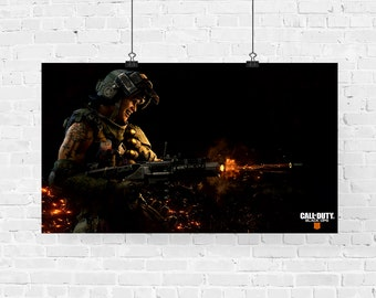 Call of Duty Black Ops 4 Gaming Poster Print, COD Home WallArt A4 A3 A6 A5 A2 2018, Xbox, PS4, 1st Person Shooter, Gamer, Geek, Online