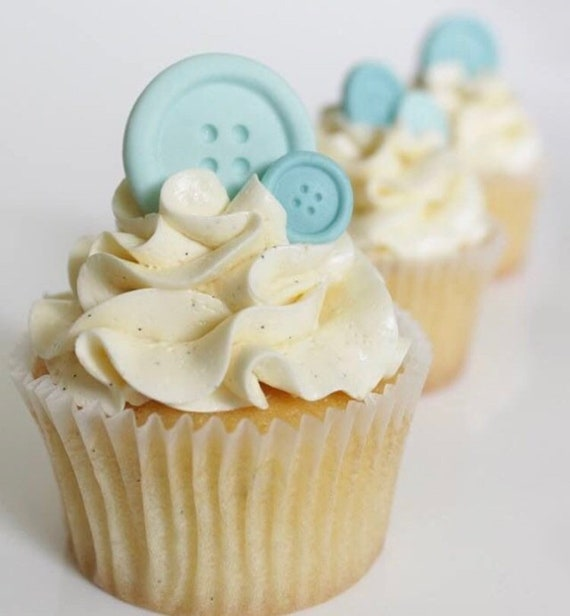 Buttons Babyshower Pink Blue Yellow Green Birthday Cupcake Etsy