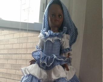 Vestido de Muneca del Santo Yemaya / Santeria Dress Yemaya Doll Size