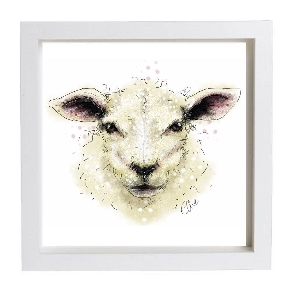 Framed Sheep Print // Sheep Print // Sheep Home Decor