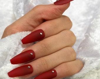Acrylic Press On Nails Etsy Au