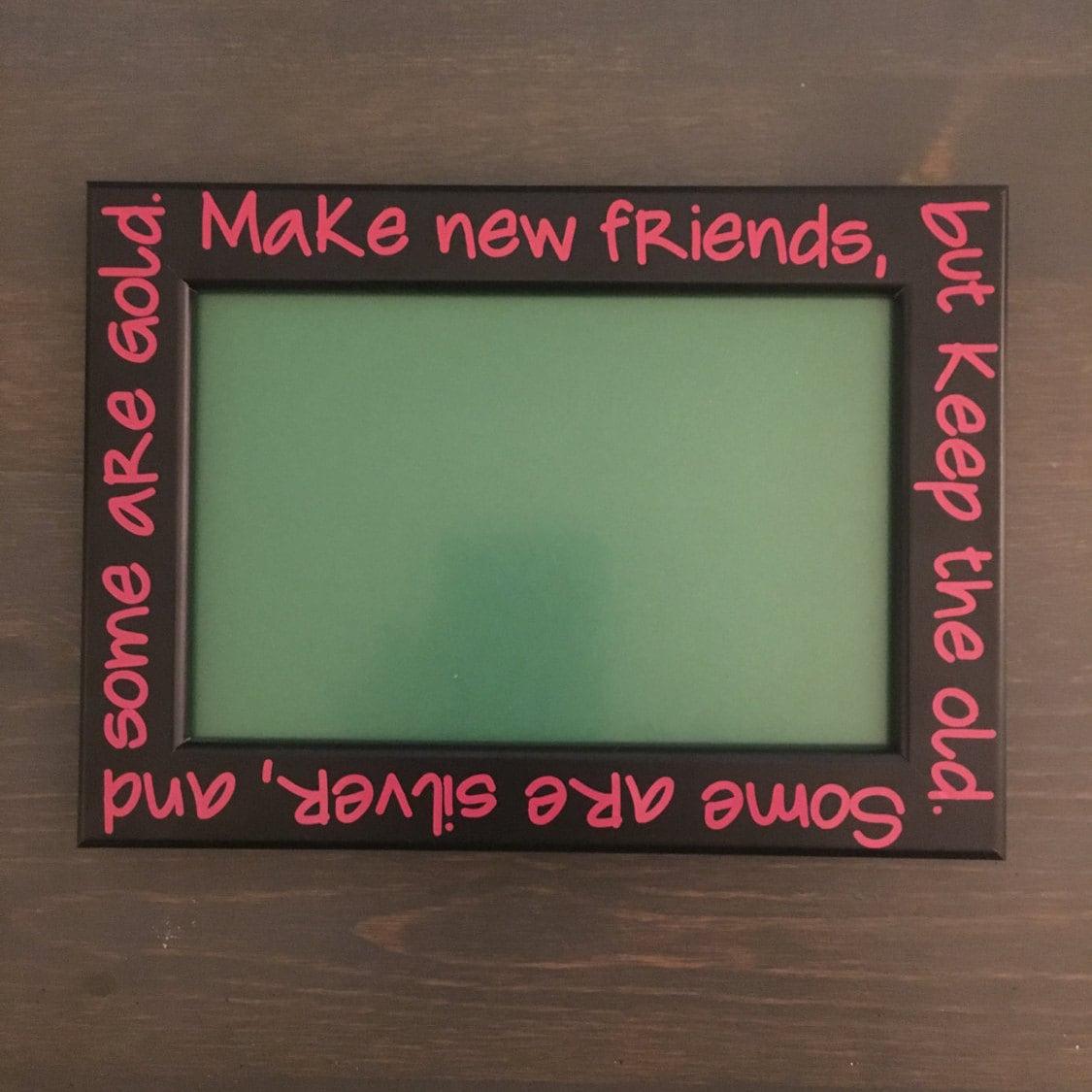 friends picture frame 4 x 6 frame troop gift make new etsy. Black Bedroom Furniture Sets. Home Design Ideas