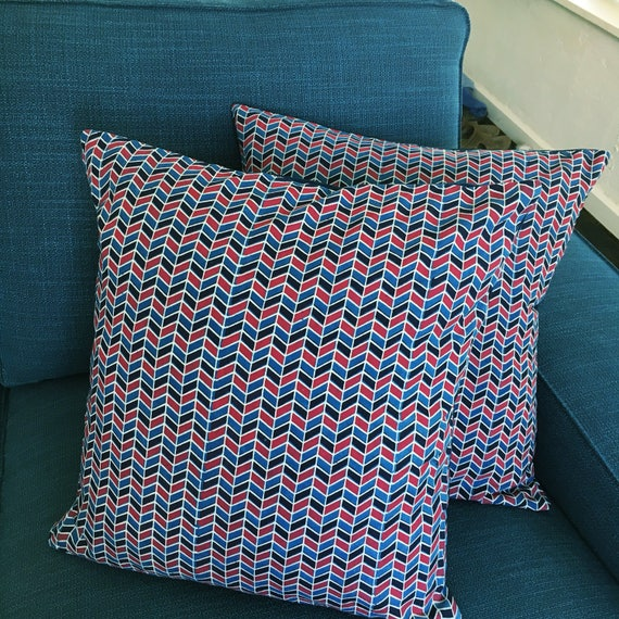 Ajrakh Block Printed Cotton Cushion Cover