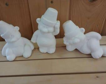 Cracked Pot Bears set of 3
