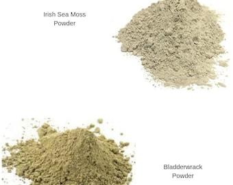 Irish sea moss + bladderwrack + burdock Root capsules/powder/ 102 minerals, all the nutrients the body require/ Jamaican Irish moss detox