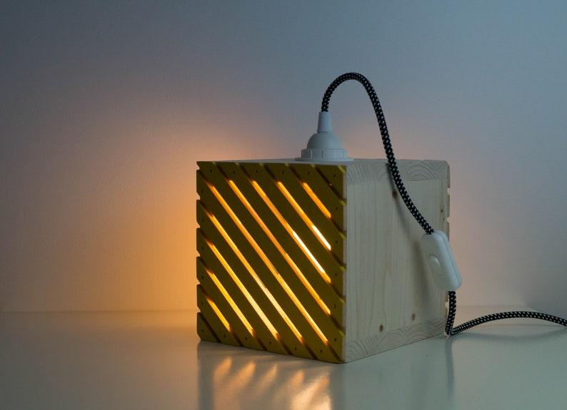 wooden table lamp The Openwork light wood. natural wood reclaimed wood lamp lamp lamp bulb lamp
