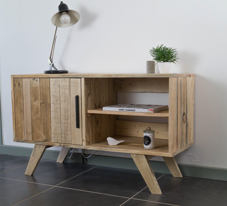 Habiller L Arrière D Un Meuble tv, furniture, furniture, scandinavian style tv tv in natural wood,  recycled wood cabinet vintage tv stand, furniture vinyl