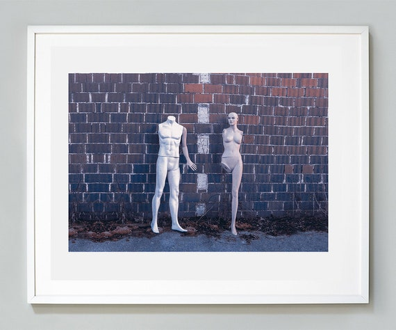 Mannequins Dolls Photography Purple Print Doll Couple Love Art Print Strange Photography Wall Art Poster Minimal Body Parts Naked People Art
