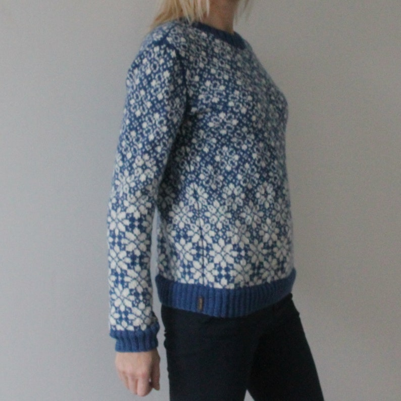 Wool knitted sweater Fair Isle hand knit sweater