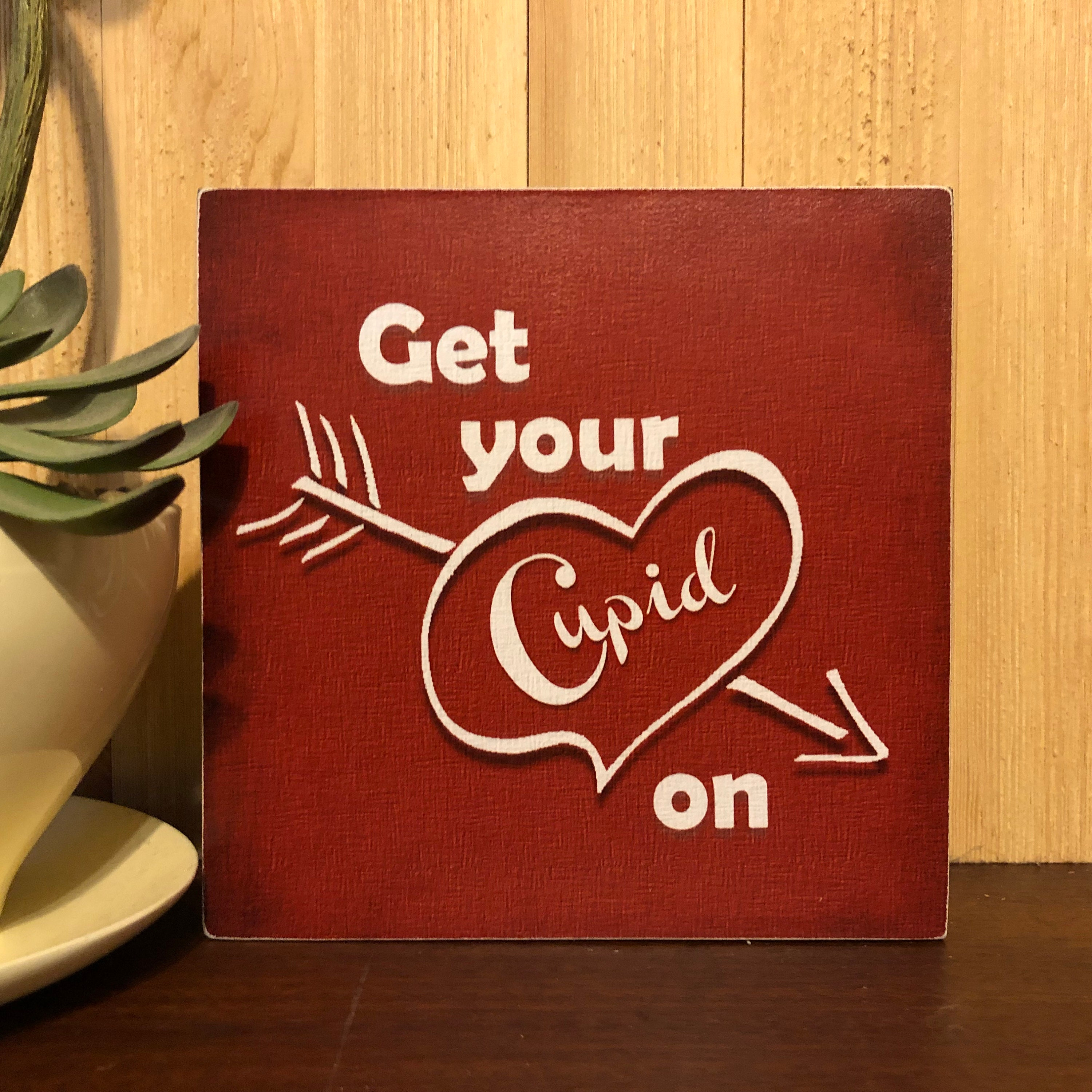 Cupid Valentines Day Photo Door Cover ~ Hit Me With Your Best Shot Photo Favor