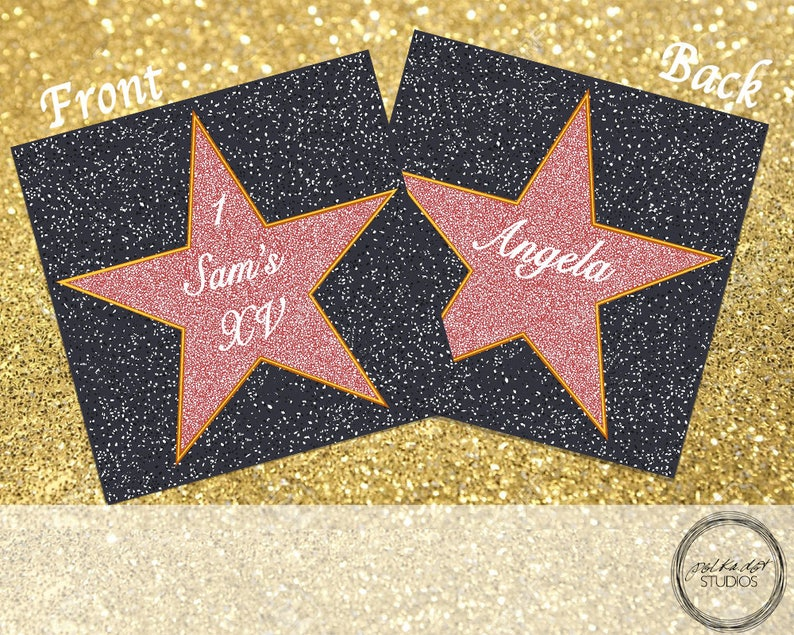photo relating to Hollywood Star Template Printable identified as Double Sided Folded Hollywood Star printable Do-it-yourself