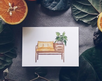 Bench Seat Greeting Card