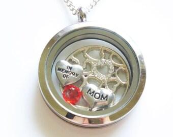 Mom Jewelry in Loving Memory, Memorial Jewelry, Keepsake Jewelry Memory, Mom Remembrance, In Loving Memory of My Mom, Memorial Necklace