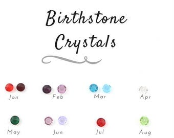 Add a Birthstone  - Or have a look at the birthstone options!