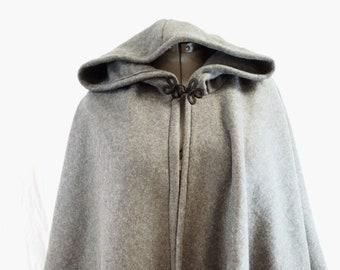 Short Fleece Cloak - Dark Grey Full Circle Cloak Cape