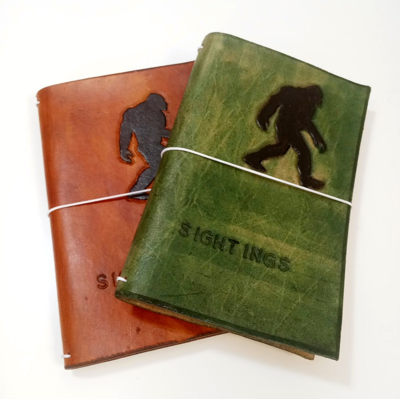 Bigfoot Journal  Bigfoot Sightings Leather Notebook Cover  image 0